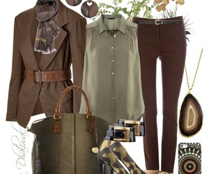 brown, green, and jeans image