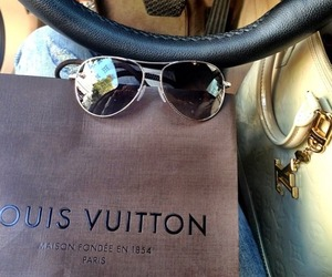 bag, Louis Vuitton, and car image