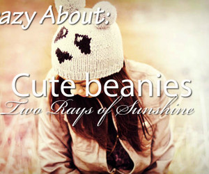 autumn, beanie, and brunette image
