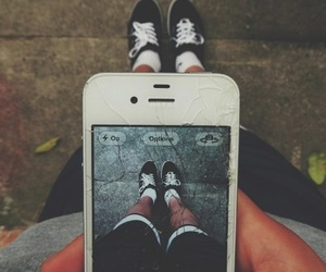 iphone, photography, and shoes image