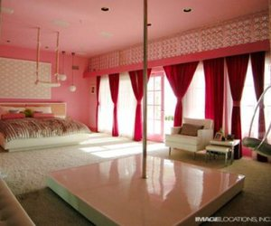 bed, bedroom, and dream room image