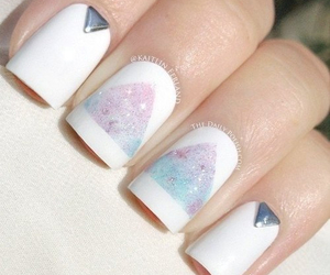nails, white, and pretty image