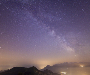 landscape, milky way, and stars image