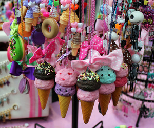 pink, ice cream, and necklace image