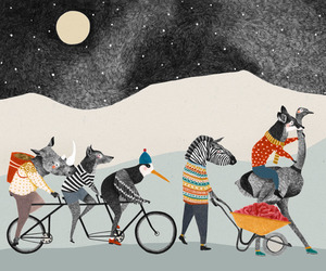 animals, cycling, and art image