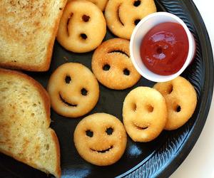 food, smile, and potato image