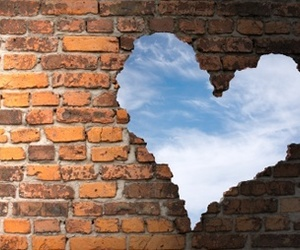 heart, sky, and wall image