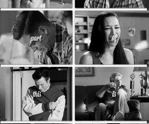 glee, cory, and sad image