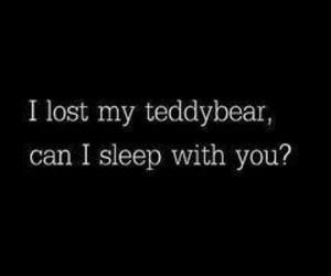 love, sleep, and teddybear image
