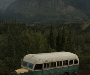 into the wild, bus, and nature image