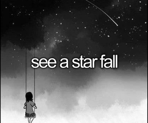 falling, stars, and look at the stars image