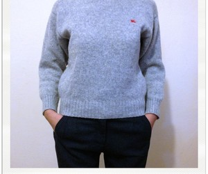androgynous, jumper, and grey image