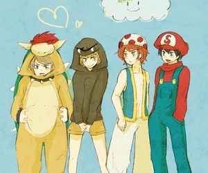 anime, costumes, and mario bros image