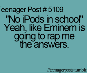 eminem, school, and ipod image