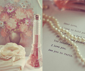 paris, pearls, and flowers image