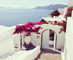 sea, white, and Greece image