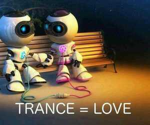 music, trance, and love image