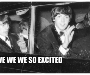 beatles, black and white, and funny image