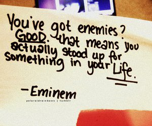 eminem, quote, and enemy image