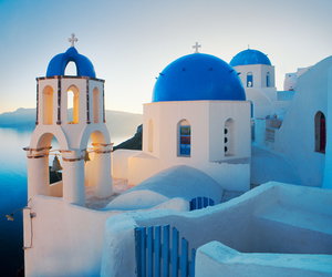 Greece, blue, and santorini image