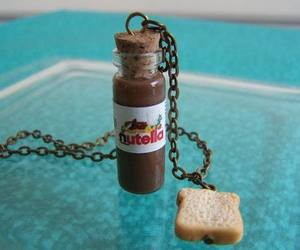 nutella, bread, and chocolate image