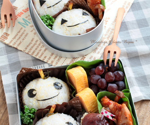 bento, egg, and food image