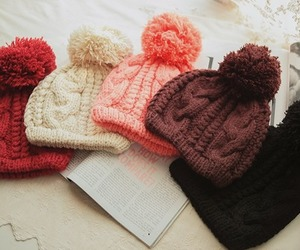 winter, hat, and pink image
