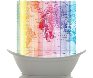 curtain, map, and rainbow image