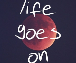 quote, life, and moon image