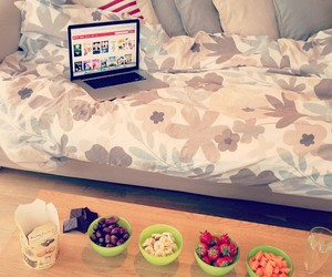 apple, bedroom, and chocolate image