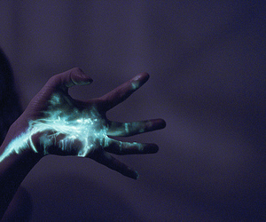 hand, light, and blue image