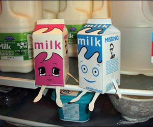 milk, blur, and couple image