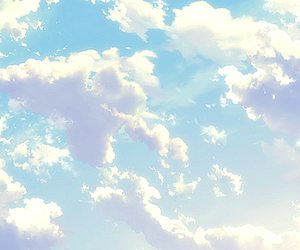 sky, clouds, and anime image