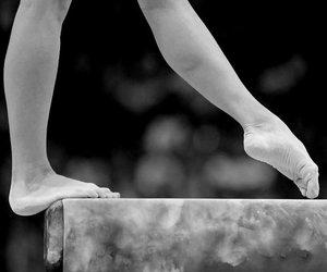 gymnastics, beam, and feet image