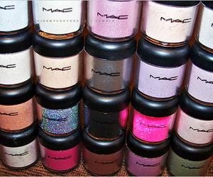 mac, makeup, and glitter image