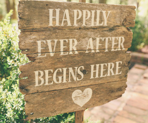 happily ever after, quote, and wedding image