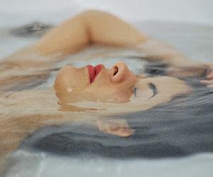 girl, water, and bath image