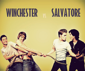 supernatural, winchester, and salvatore image