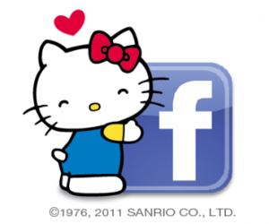 facebook and hello kitty image