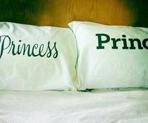 bed, princess, and prince image