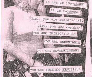 Courtney Love and riot grrl image