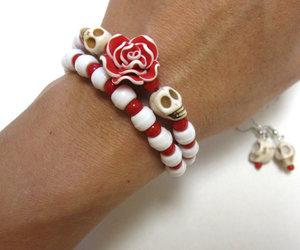 bracelet, set, and skull image