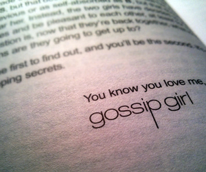 gossip girl and you know you love me image