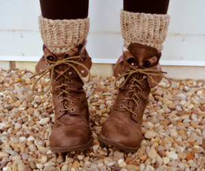 boots, fall, and socks image
