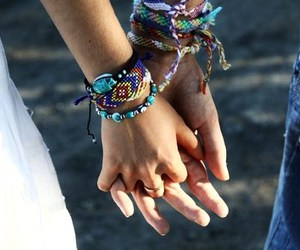 love, bracelet, and couple image