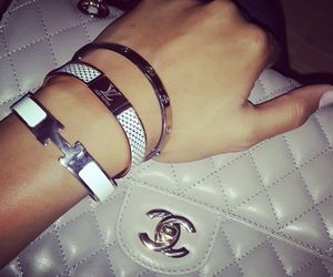 bracelet, chanel, and bag image