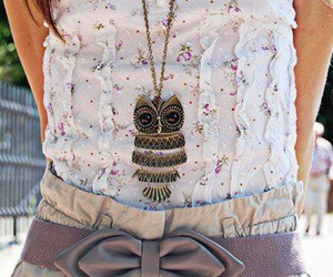 girly, owl, and pretty image