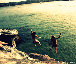 jump, beautiful, and summer image