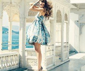 blue, fashion, and model image