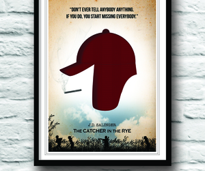 catcher in the rye, poster, and etsy image